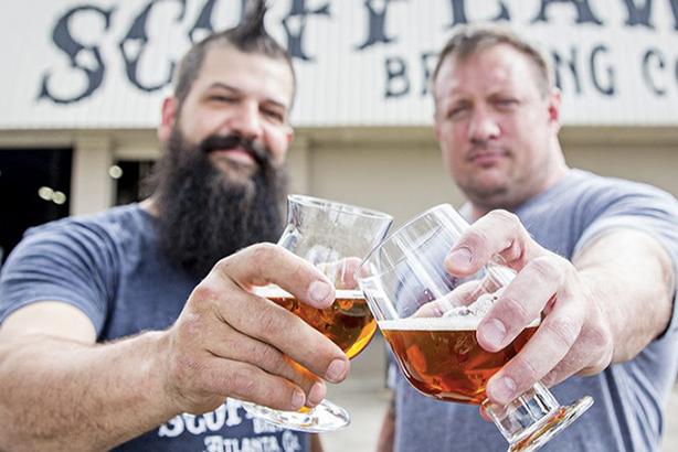 Scofflaw brewmaster Travis Herman and CEO Matt Shirah