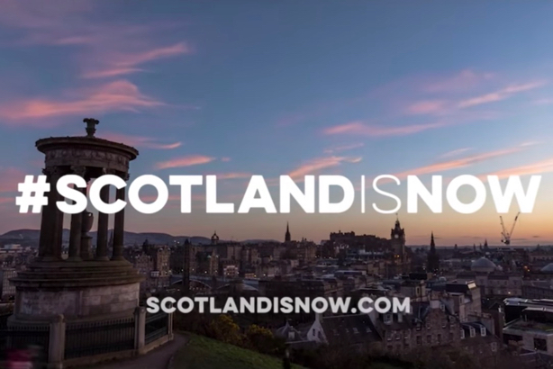 Scotland is now: A still from the campaign film