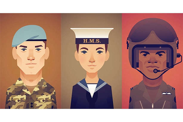 An image used in the Electoral Commission's voter registration campaign, aimed at armed forces personnel