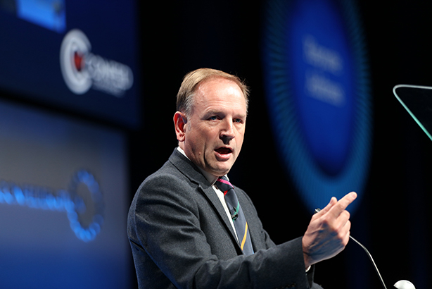 Simon Stevens, CEO of NHS England, addressing the NHS Confederation conference last week