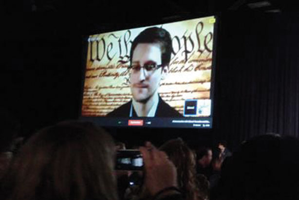 Edward Snowden: the NSA whistleblower appears at SXSW14 via a video link