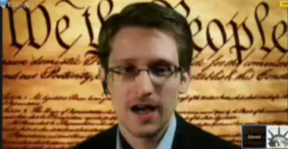 Snowden speaks at SXSW