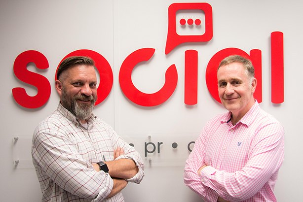Social Comms London MD Ben Ruse (left) and group MD John Quinton-Barber