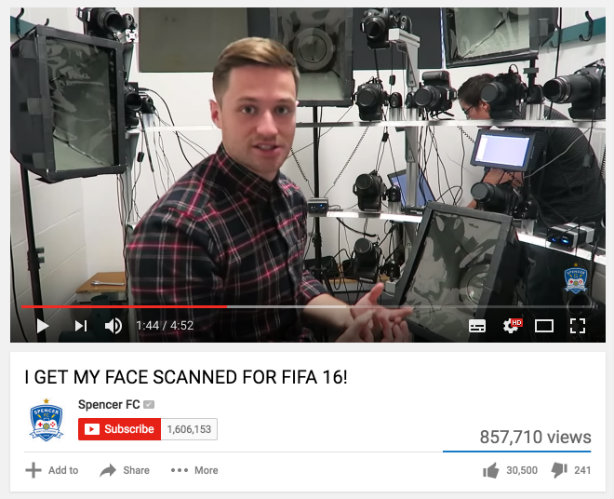 Clifford French took YouTuber Spencer FC behind the scenes on video game FIFA 16