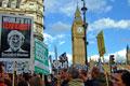 Protestors: in London