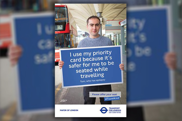 Offer your seat: One of the case studies featured in the TfL campaign