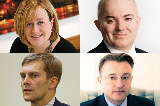 Political power: (clockwise from top-left) Perrior, Glover, Milne, Gallagher