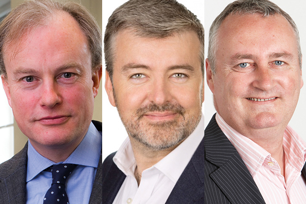 (l-r) Aiken, Enright and Wren make up the public sector comms top three