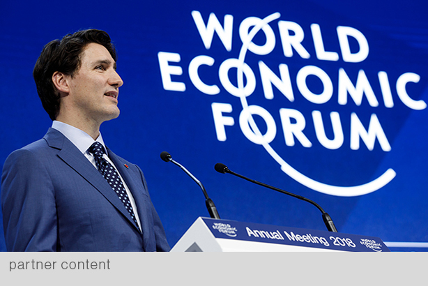 At his 2018 World Economic Forum address, Canadian Prime Minister Justin Trudeau emphasized the importance of corporate social responsibility. (Photo courtesy of pm.gc.ca)