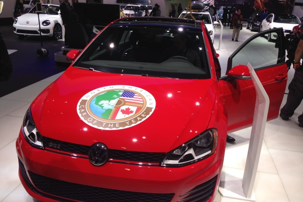 Volkswagen's Golf took Car of the Year honors at the Detroit Auto Show.