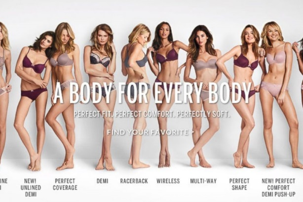 "Victoria's Secret replaced its controversial slogan with the tagline, ""A Body for Every Body."""