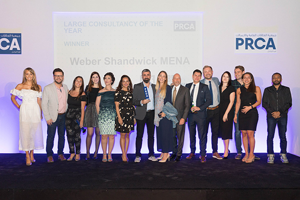 Weber Shandwick MENA took home five awards, including Large Consultancy of the Year