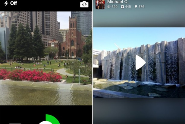 Video capture and playback of Yerba Buena Gardens in San Francisco, CA through the Yelp iPhone app