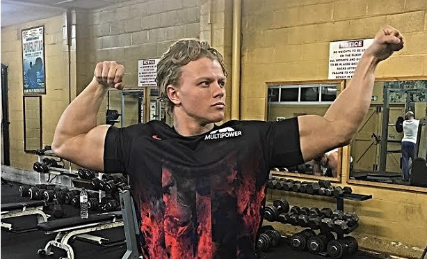 Campaign: Weightlifting champion and fitness model Aidan Broddell