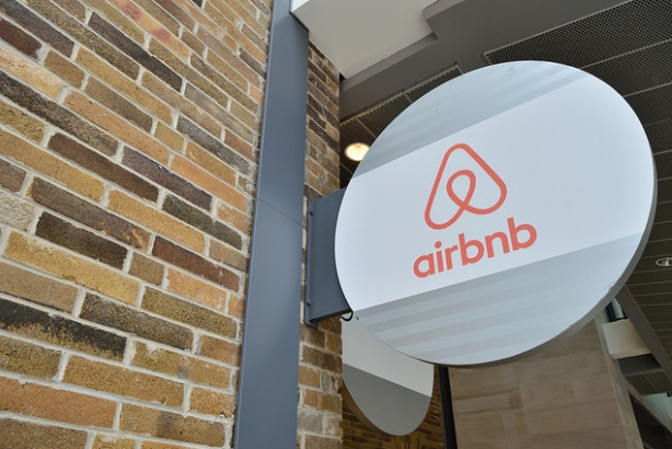 Airbnb office sign (Image via Open Grid Scheduler, Flickr)