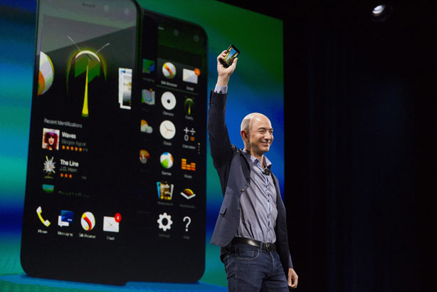 The Fire: Launched by Amazon boss Jeff Bezos at a special event in Seattle (Credit: Bloomberg via Getty Images)