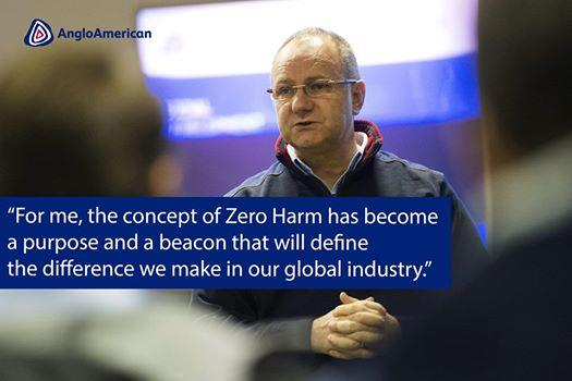 Anglo-American highlighted its Zero Harm initiative on its Facebook page