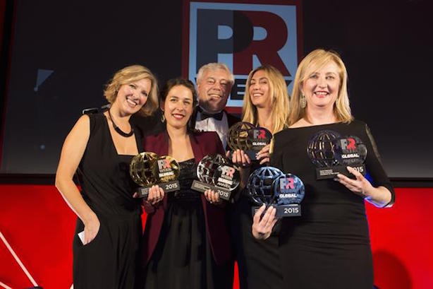 MSLGroup celebrates at the 2015 PRWeek Awards