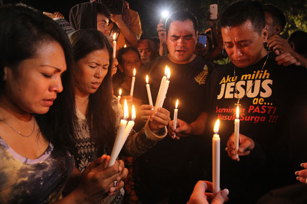 Vigil held for Bali Nine executions. Photo by AFP.