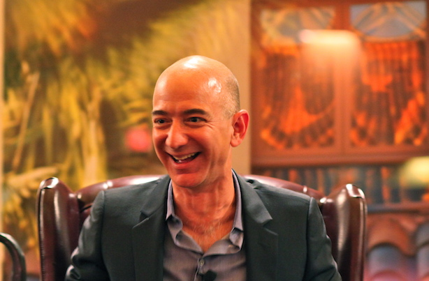 (Image via Wikimedia Commons, by Steve Jurvetson - Flickr: Bezos' Iconic Laugh, CC BY 2.0, https://commons.wikimedia.org/w/index.php?curid=21166413)