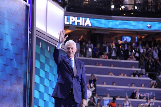 Bill Clinton at the Democratic National Convention in Philadelphia. (Image via the convention's Facebook page; Photo by E. Jackendoff). ff)