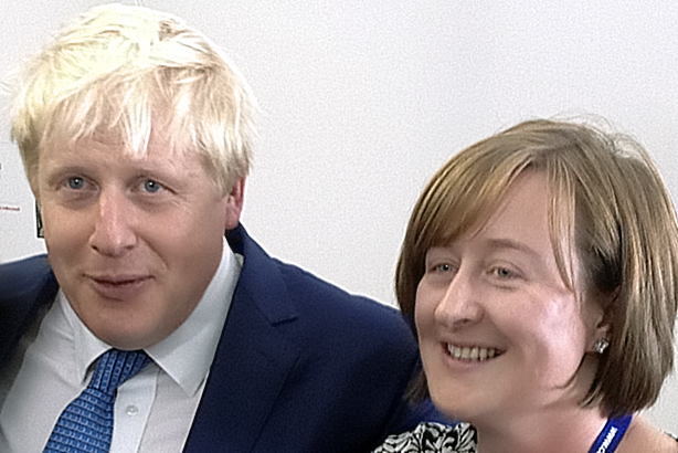 Campaigning days: Katie Perrior with Boris Johnson
