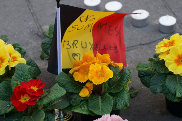 Nous sommes Bruxelles: Tributes in the Belgian capital (Credit: Miguel Discart via Flickr)