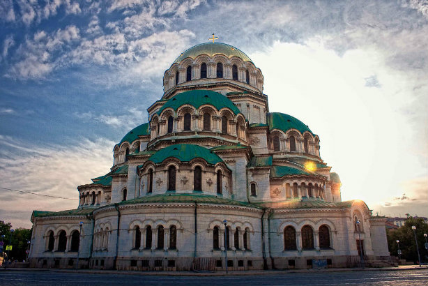 The St Alexander Nevsky Cathedral in Sofia, Bulgaria's capital