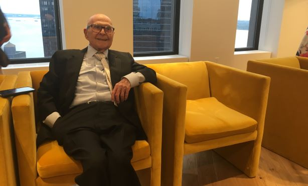 Industry legend Harold Burson at Monday night's event