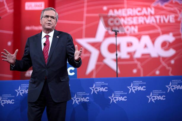Jeb Bush speaking at CPAC 2015 (Image via Wikipedia Commons)
