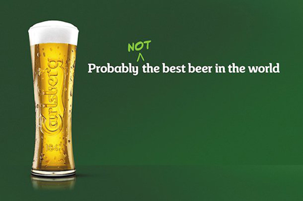 Carlsberg has rewritten its famous 'probably' slogan