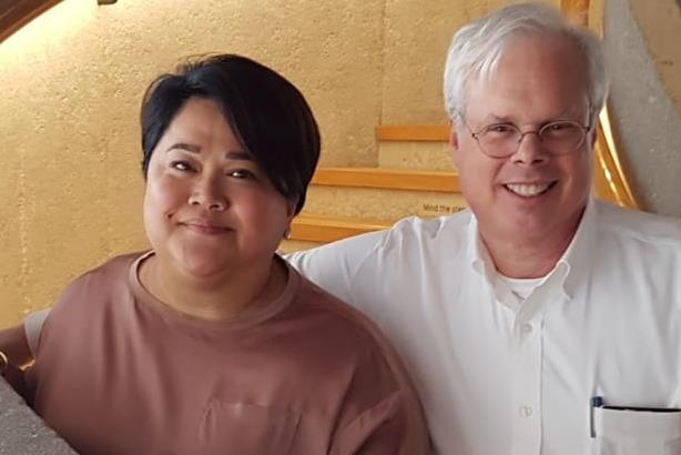 L-R: Cathy Feliciano-Chon and Peter Finn