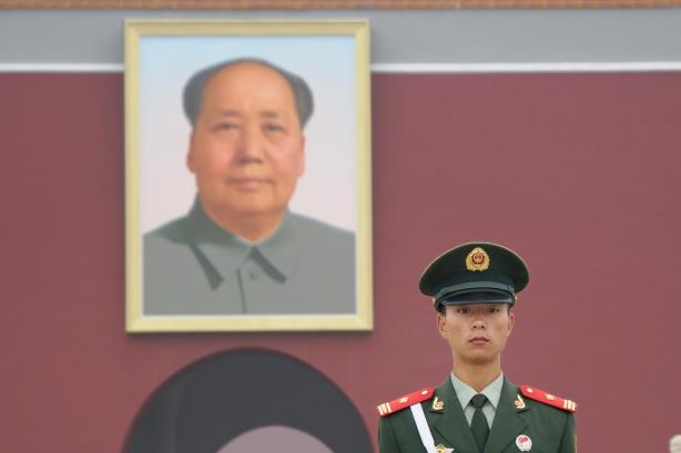 Image via Wikimedia Commons. (By Christophe Meneboeuf. Mao Zedong portrait attributed to Zhang Zhenshi and a committee of artists)