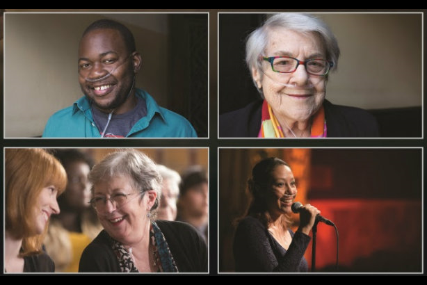 Finding their voice: some of the members of the 18-strong Breathless Choir