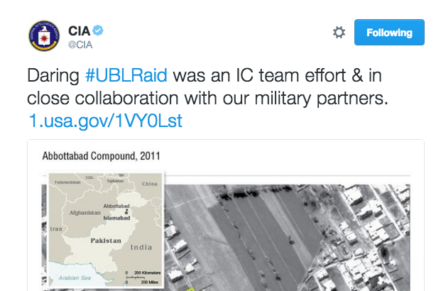 The CIA tweeted a blow-by-blow account of the bin Laden raid on Sunday night. Not everyone was impressed.