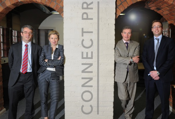 Deal makers (l to r): Ed Thompson, Hazel Crawford, Rob Hampton, Richard Griffiths