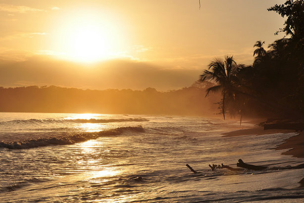 Costa Rica: Sunrise in Cahuita on the Caribbean coast (Credit: Armando Maynez via Flickr)
