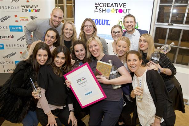 Creative stars: The winning team from Mischief at the last Creative Shootout