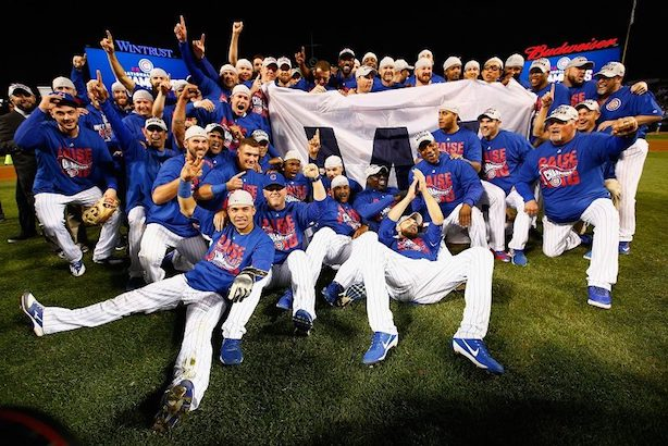 The Chicago Cubs won game seven of the World Series Wednesday night in Cleveland. (Image via the Cubs' Facebook page).