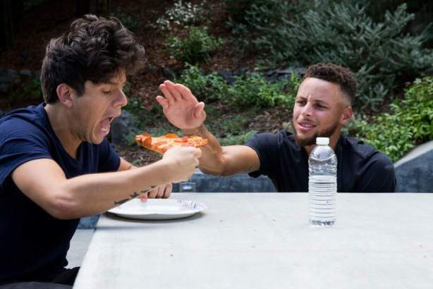 2a9ee60920f0 Steph Curry gets Rudy Mancuso to drop bottled water in catchy Brita music  video