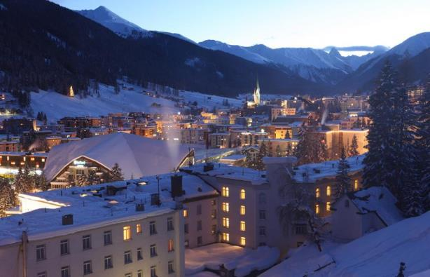The snowy slopes of Davos. (Image via the World Economic Forum's Facebook page).