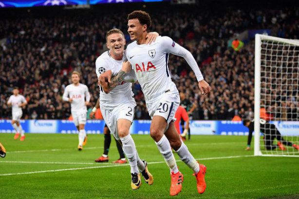 Alli celebrates netting for club side Spurs