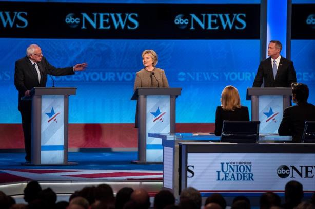 The Democratic debate stage on Saturday night. (Image via the DNC's Facebook page).