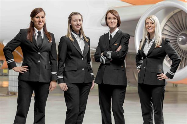 Currently, just five per cent of easyJet's pilots are female