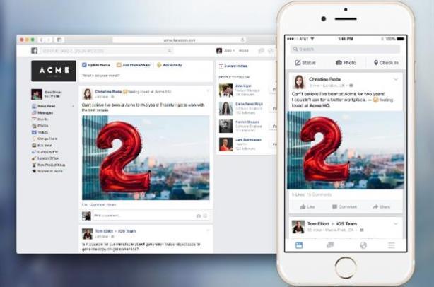 Facebook's LinkedIn rival, Facebook at Work