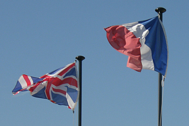 EU neighbours, for now at least: The UK and French flags (credit: Olivier Bacquet via Flickr)