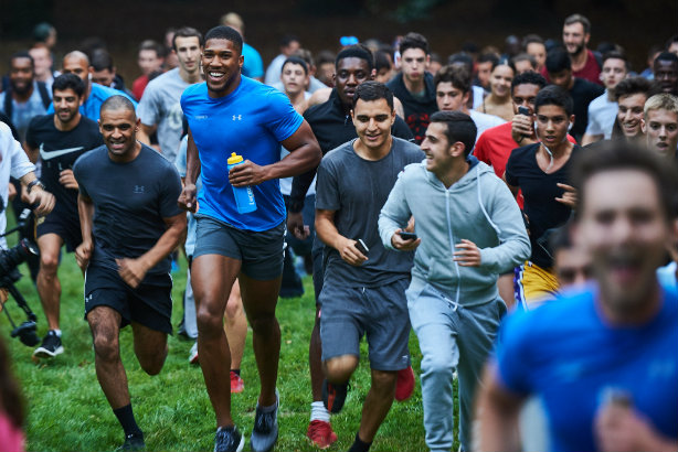 Activity: Speed Sport helped organise a 'flashmob' with boxer Anthony Joshua for Lucozade Sport in 2016