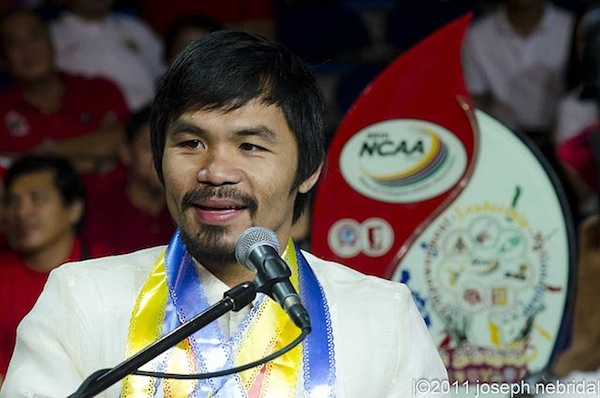 """Manny Pacquiao apologised for saying gay people are """"worse than animals"""" (Akira Kouchiyama)"""