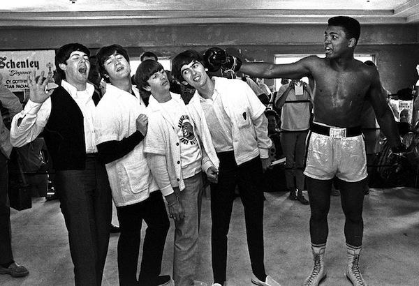The iconic Muhammad Ali, who died on Friday, in a world renowned shot with the Beatles.