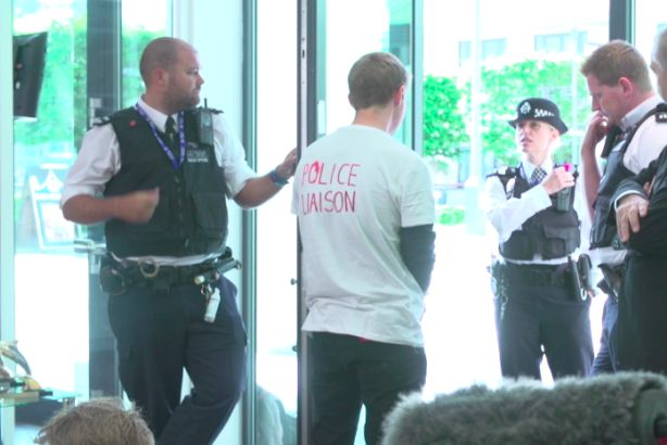 Protest: Anti-fracking demonstrators arrested at Media Zoo offices last year